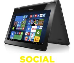 "LENOVO YOGA 300 11.6"" 2 in 1 - Black"