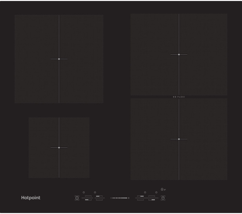 HOTPOINT  Ultima CIS 641 F B Electric Induction Hob  Black Black