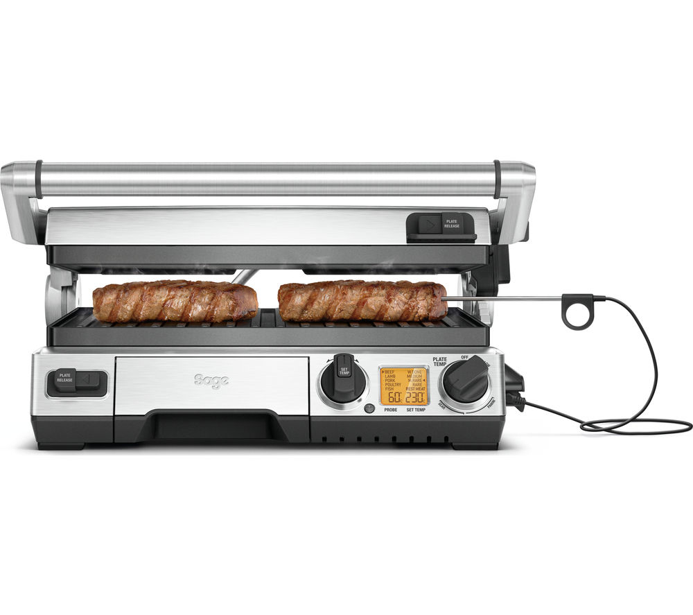 SAGE by Heston Blumenthal BGR840BSS Smart Grill Pro  Silver Silver