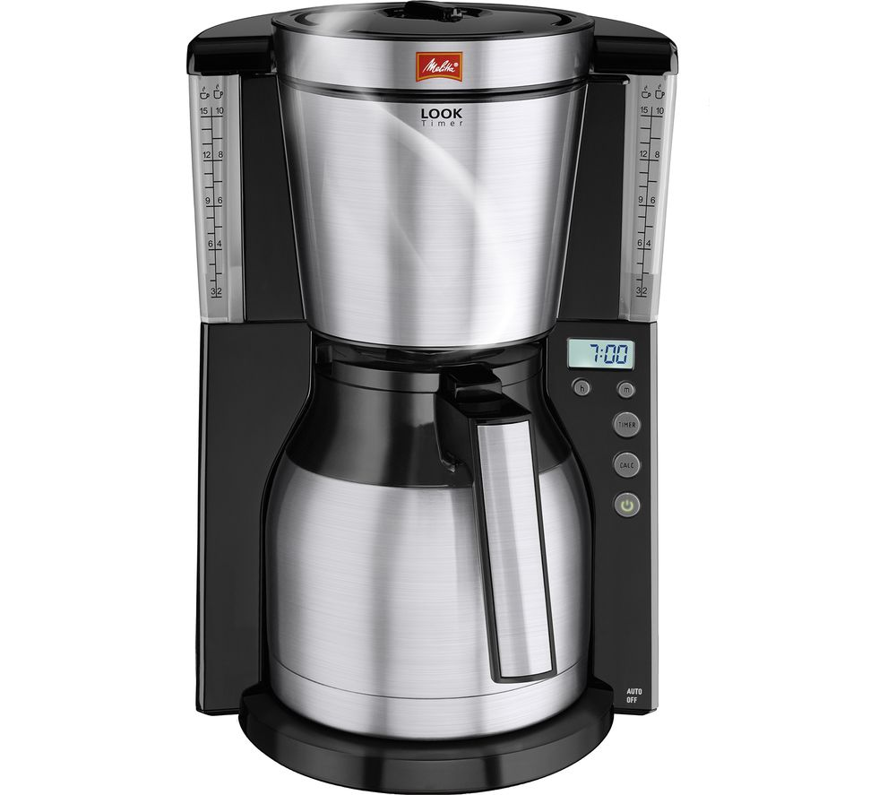 buy melitta look iv therm timer filter coffee machine black stainless steel free delivery. Black Bedroom Furniture Sets. Home Design Ideas