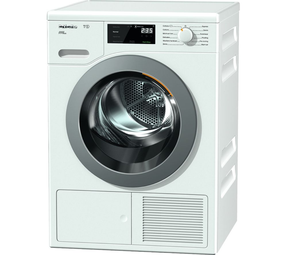 MIELE Eco TCF620WP Heat Pump Tumble Dryer  White White