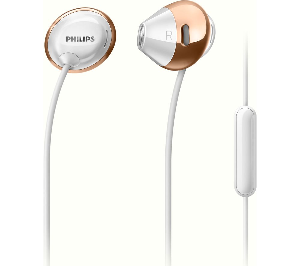 PHILIPS SHE4205WT Headphones - White & Rose Gold