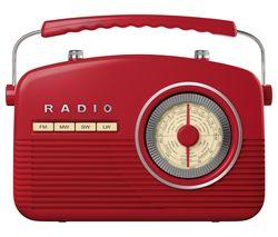 AKAI Portable Analogue Retro Radio - Red