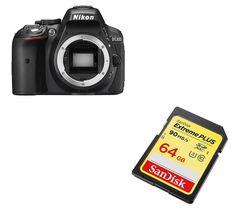 NIKON D5300 DSLR Camera - Black, Body Only
