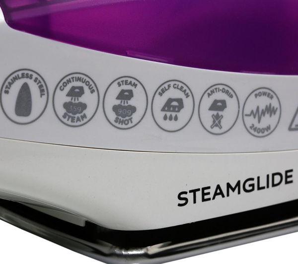 buy russell hobbs steamglide 18651 steam iron purple. Black Bedroom Furniture Sets. Home Design Ideas