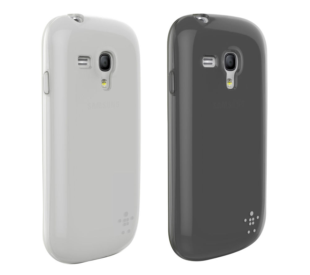 BELKIN F8M547vfC00-2 Samsung Galaxy S3 Mini Case - Black & White