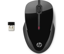 HP X3500 Wireless Optical Mouse - Black
