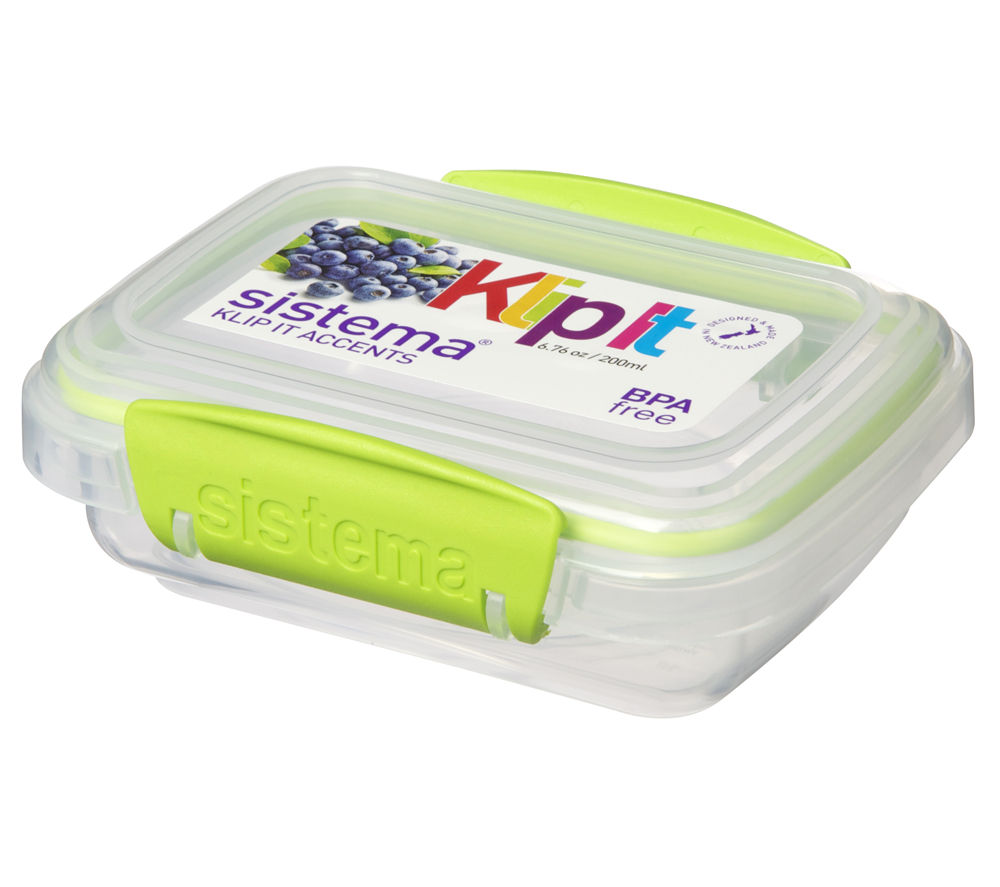 SISTEMA Klip It Accents 200 ml Rectangular Box