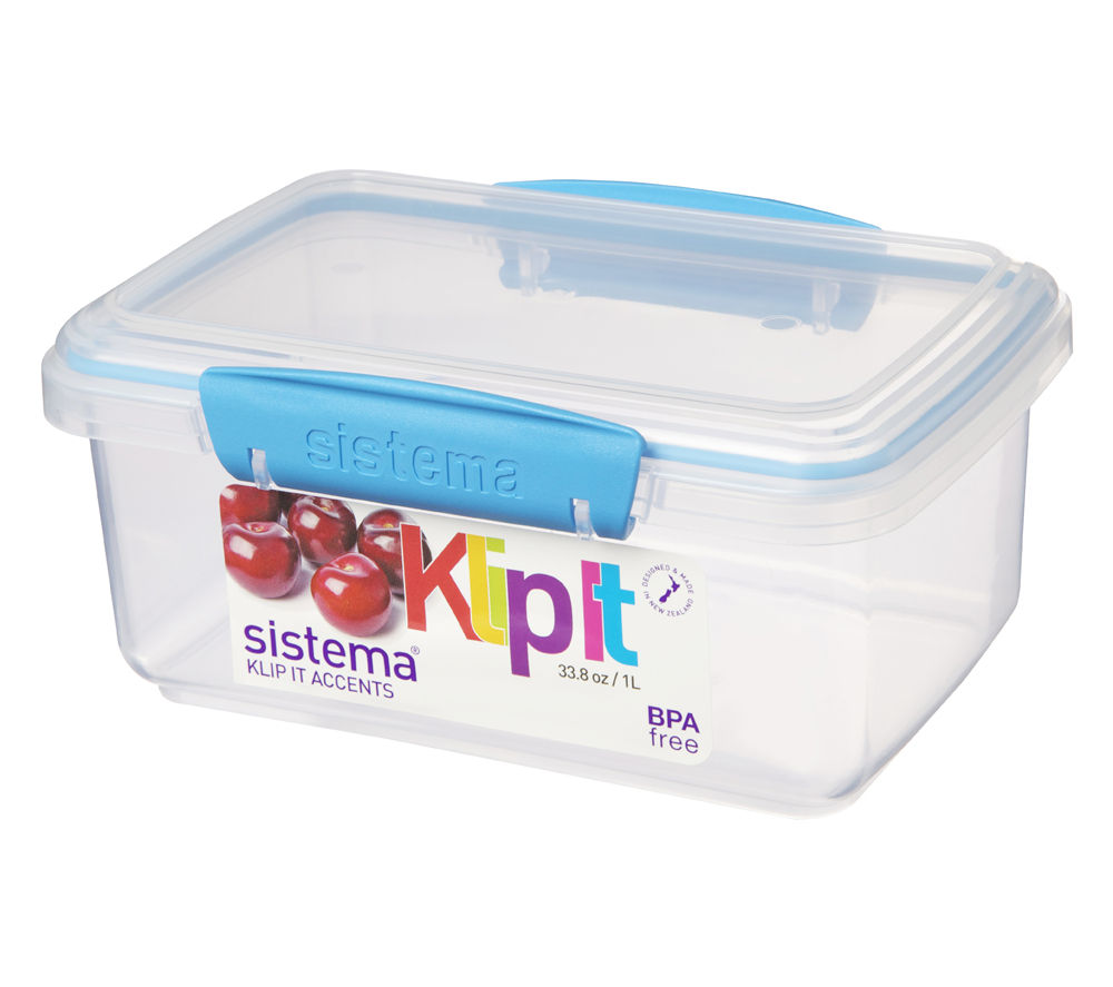 SISTEMA Klip It Rectangular 1-litre Box
