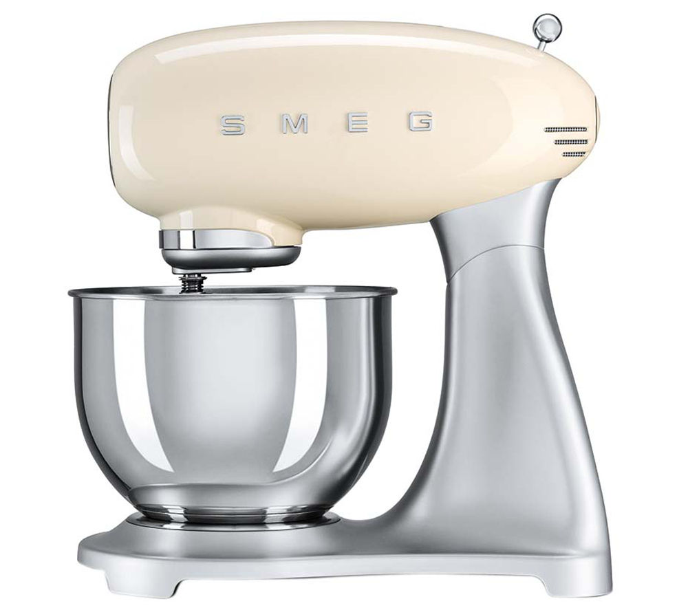 buy smeg smf01cruk 50 39 s retro stand mixer cream free delivery currys. Black Bedroom Furniture Sets. Home Design Ideas