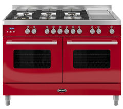 BRITANNIA Delphi 120 Dual Fuel Range Cooker - Gloss Red