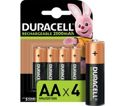 DURACELL AA NiMH Rechargeable Batteries