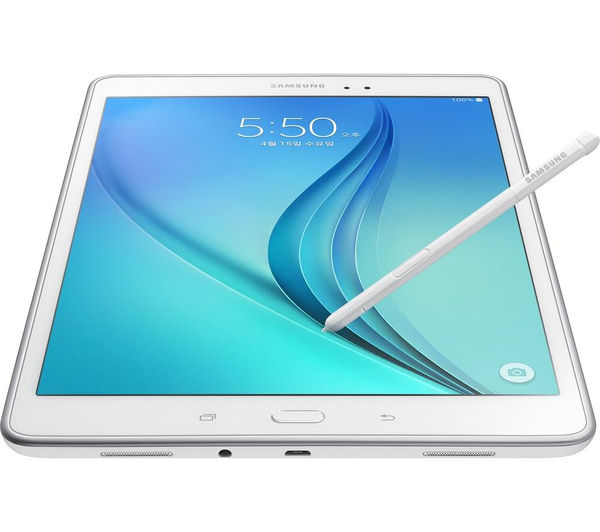 samsung galaxy tab a 9 7 tablet s pen 16 gb white. Black Bedroom Furniture Sets. Home Design Ideas