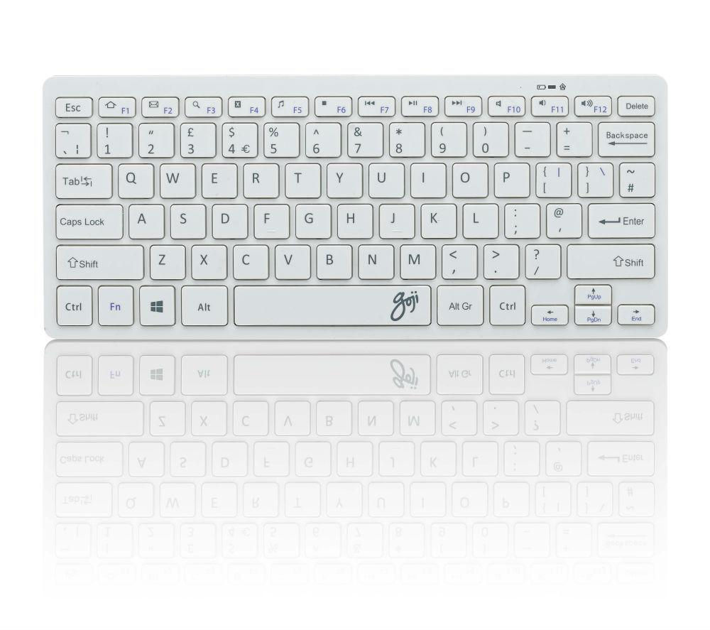 GOJI GKBMMWH16 Wireless Keyboard - White