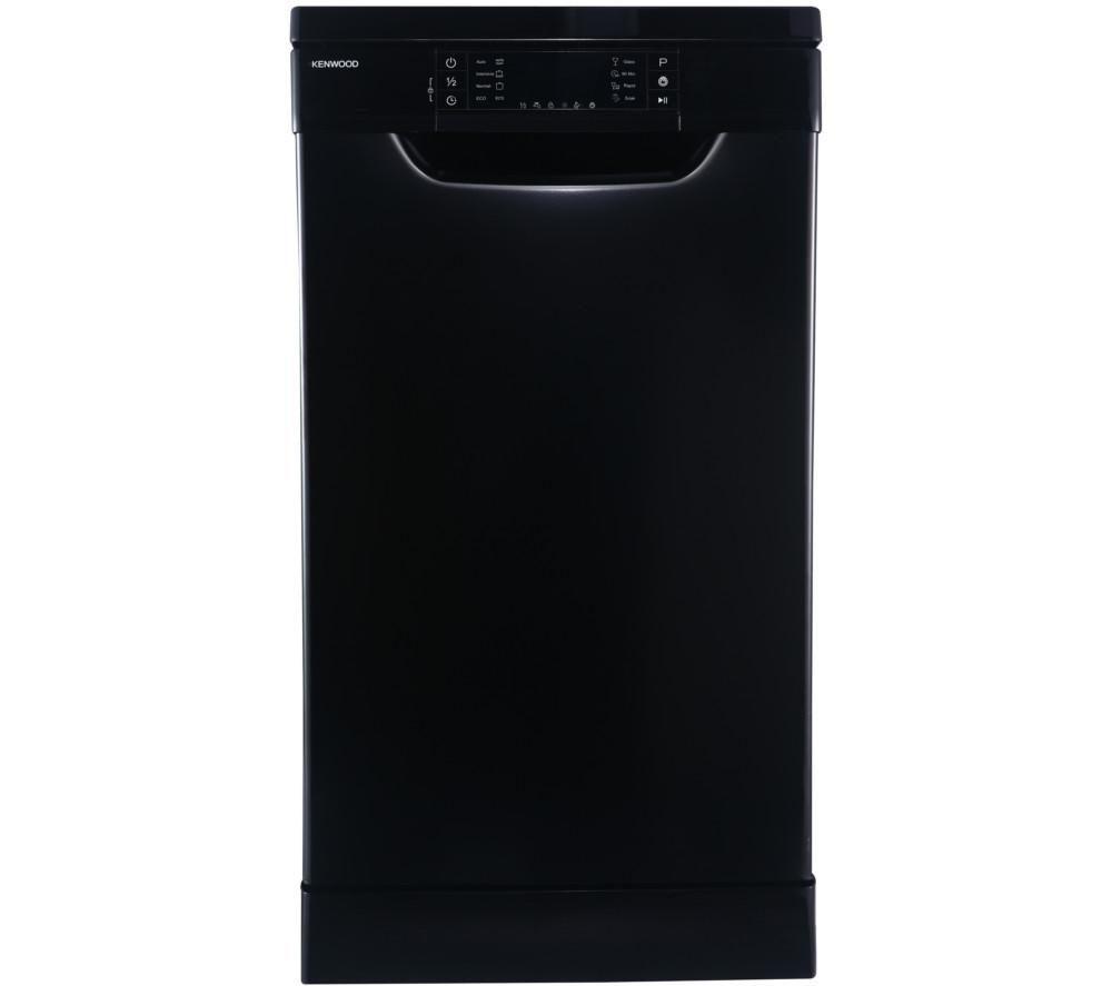 KENWOOD KDW45B16 Slimline Dishwasher - Black