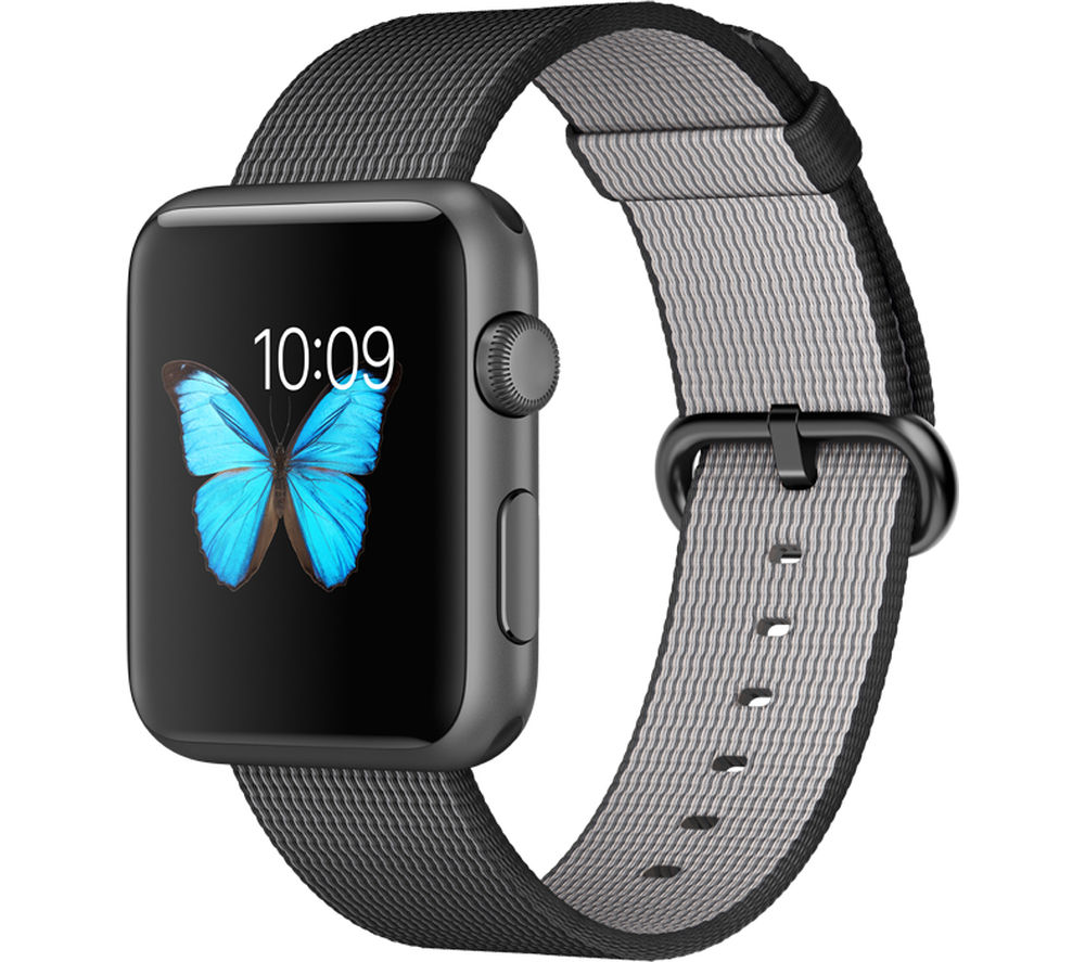 APPLE Watch 42 mm Sports Band - Space Grey & Black