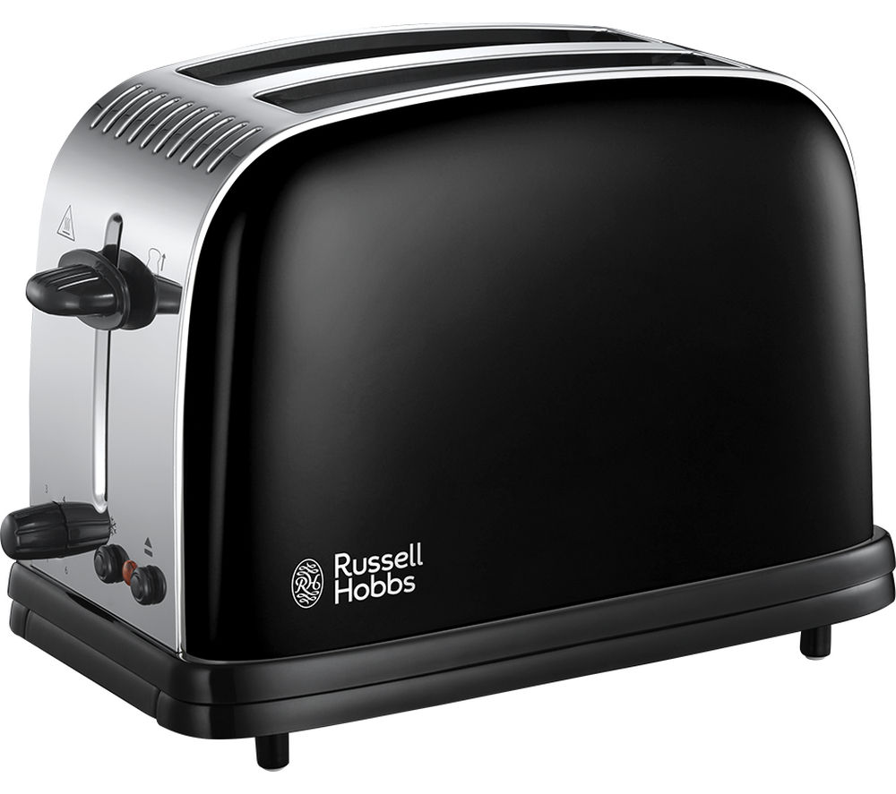RUSSELL HOBBS  Colours Plus 23331 2Slice Toaster  Black Black