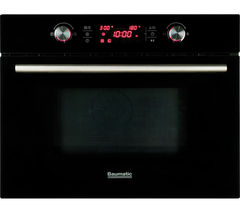 BAUMATIC BMC460BGL Built-in Combination Microwave - Black Glass