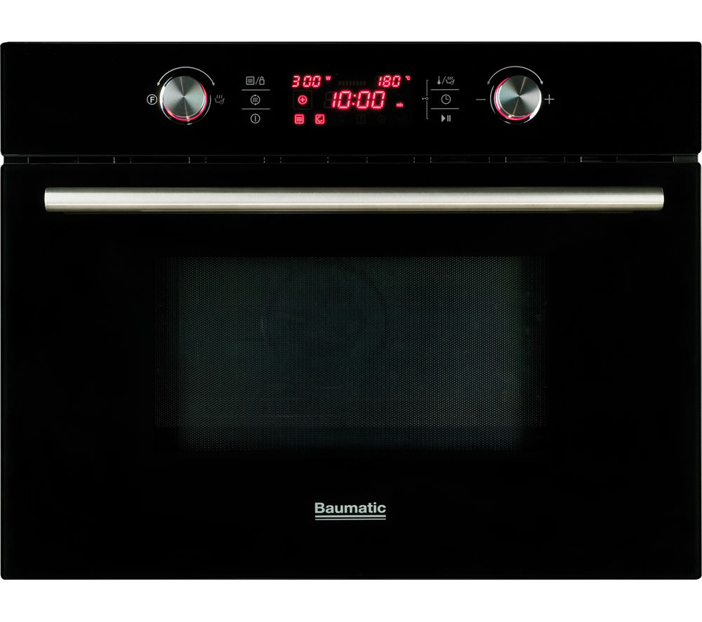 BAUMATIC  BMC460BGL Builtin Combination Microwave  Black Glass Black