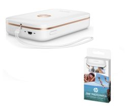HP Sprocket Mobile Photo Printer with Photo Paper - 20 Sheets