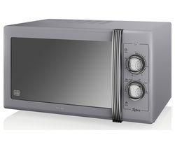 SWAN Retro SM22070GRN Solo Microwave - Grey