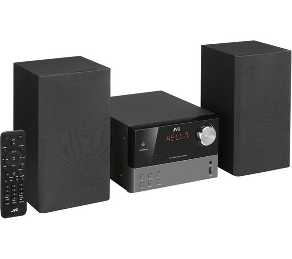 jvc ux d327b wireless traditional hi fi system black. Black Bedroom Furniture Sets. Home Design Ideas