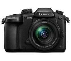 PANASONIC Lumix DC-GH5 Mirrorless Camera with 12-60 mm f/3.5-5.6 Lens - Black