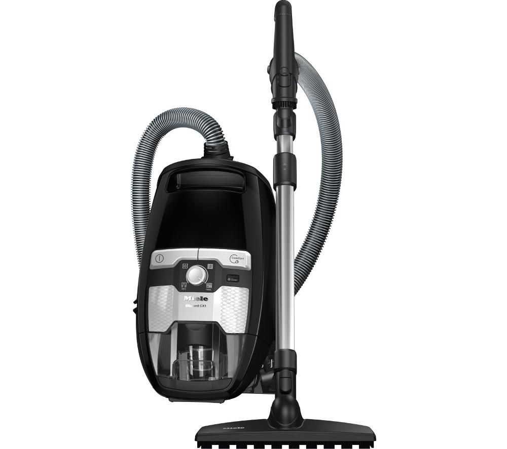 Image of MIELE Blizzard CX1 Parquet PowerLine Cylinder Bagless Vacuum Cleaner - Black, Black