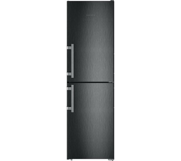 Image of LIEBHERR CNbs3915 50/50 Fridge Freezer - Black Steel, Black