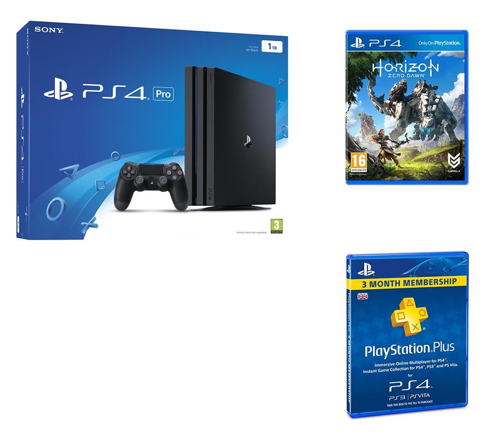 PLAYSTATION 4 PLAYSTATION 4 Pro Horizon Zero Dawn & PlayStation Plus 3 Month Subscription Bundle