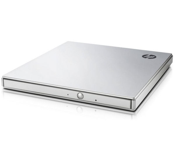 HP DVD600s External Slimline USB DVD Writer - Silver