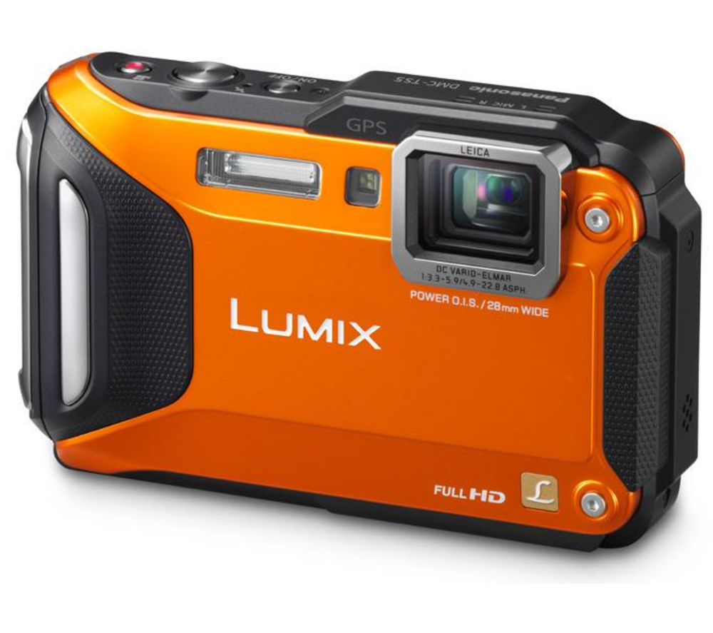 Panasonic Lumix DMC-FT5 Tough Compact Digital Camera - OrangePanasonic Lumix FT5, Orange