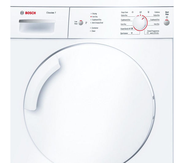 Bosch Dryer buy bosch classixx 7 wte84106gb tumble dryer - white | free