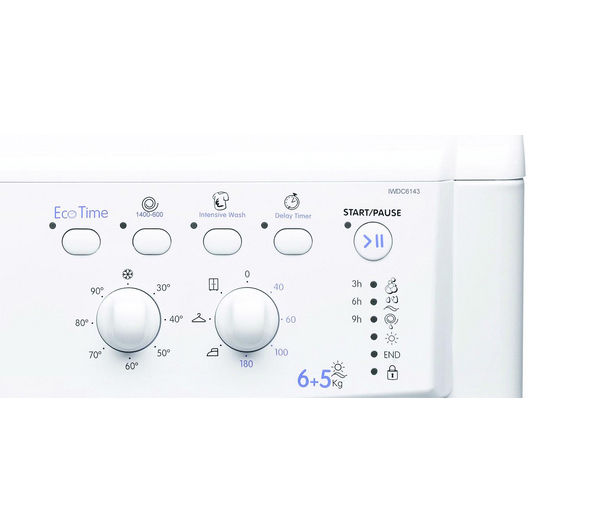 buy indesit ecotime iwdc6143 washer dryer