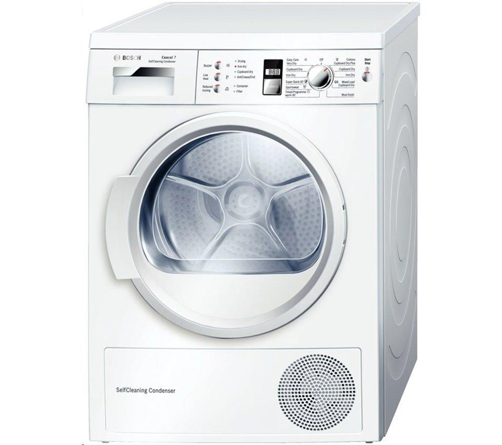 BOSCH  WTW863S1GB Heat Pump Condenser Tumble Dryer  White White