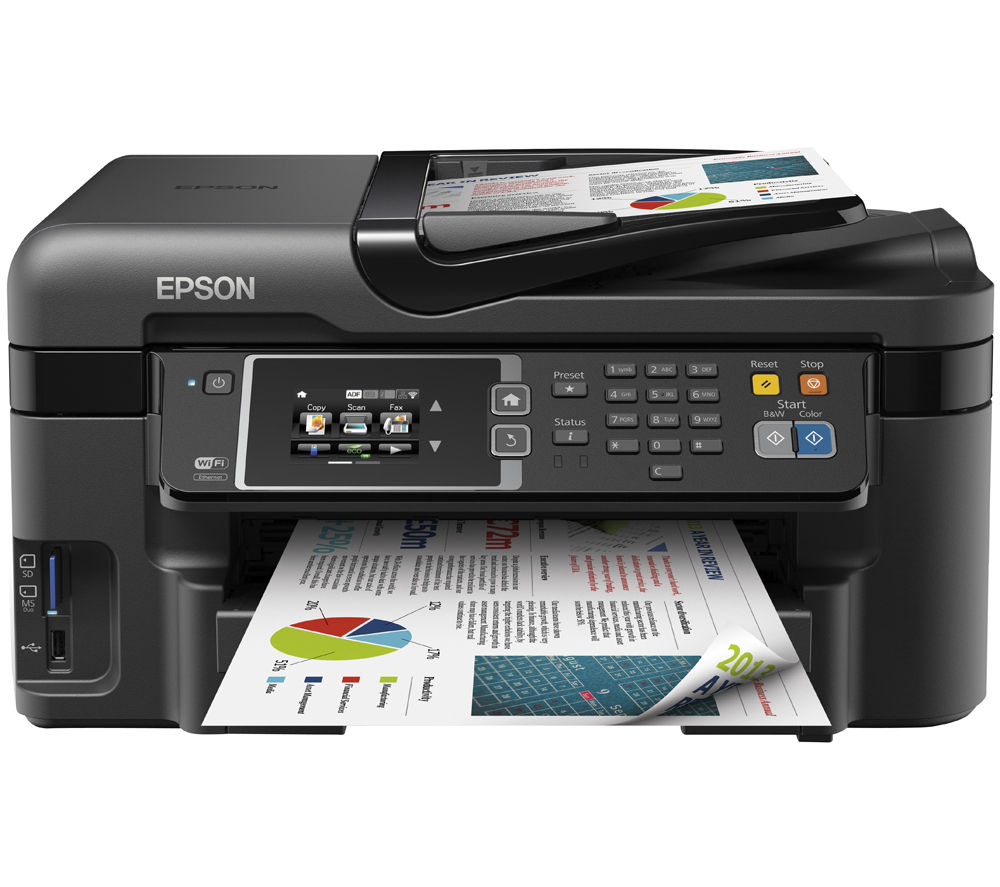 EPSON  WorkForce WF-3620DWF All-in-One Wireless Inkjet Printer with Fax +  Alarm Clock 27 Cyan, Magenta & Yellow Ink Cartridges - Multipack +  A4 Premium Black Label Paper - 500 Sheets