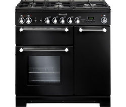 RANGEMASTER Kitchener 90 Dual Fuel Range Cooker - Black