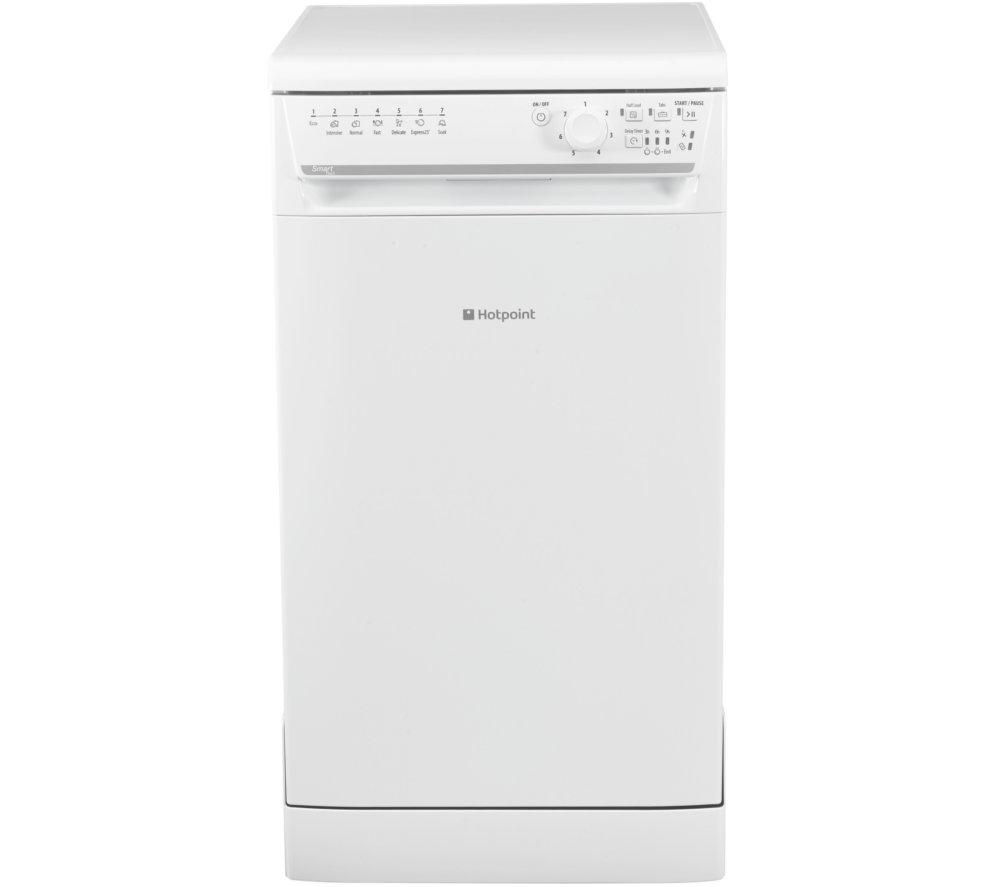 HOTPOINT  SISML21011P Slimline Dishwasher - White +  WMFUG742G SMART Washing Machine - Graphite