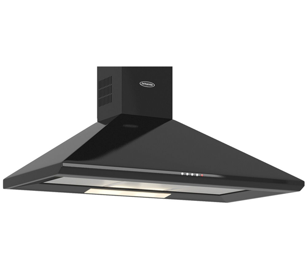 BRITANNIA  Brioso K24090K Chimney Cooker Hood  Gloss Black Black