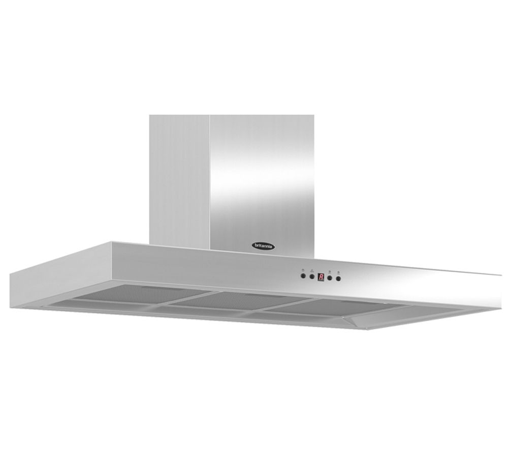 BRITANNIA Arioso K7088A90S Chimney Cooker Hood - Stainless Steel