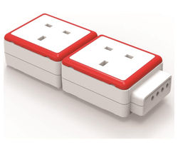 QUBIC PC-EXT-2UK 2-Socket Plug Adapter