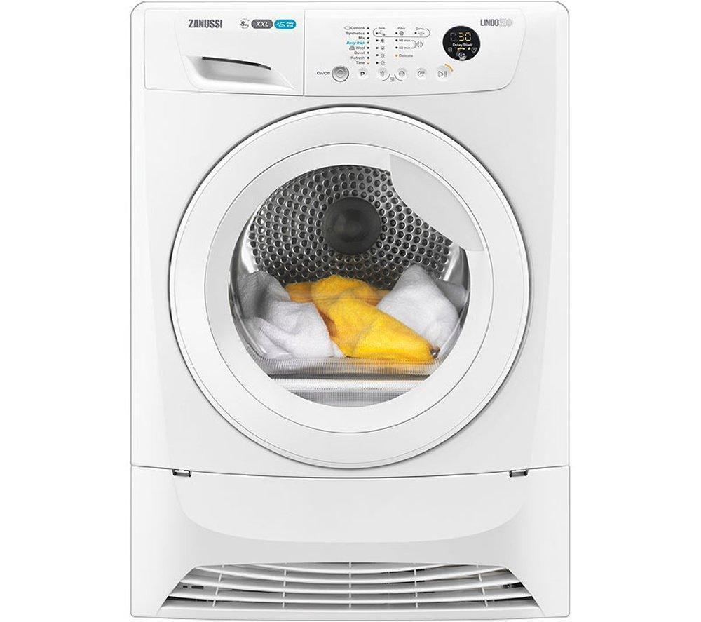 ZANUSSI  ZDC8203WR Condenser Tumble Dryer  White White