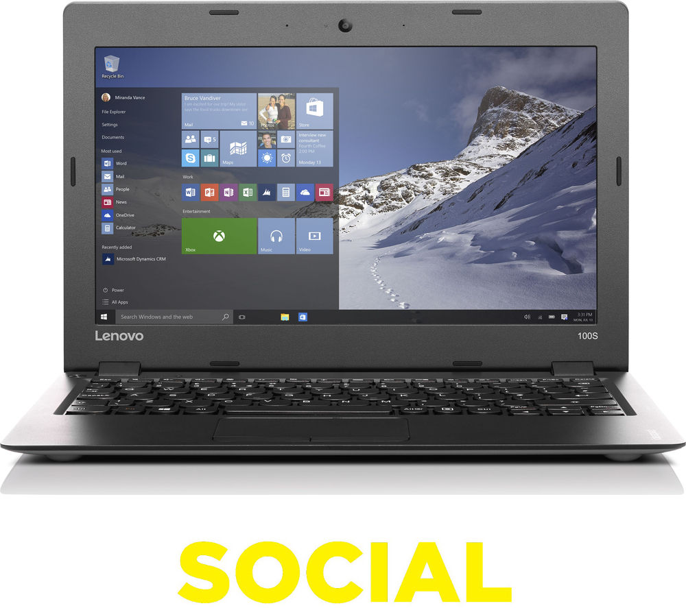 LENOVO IdeaPad 100S 11.6' Laptop - Silver