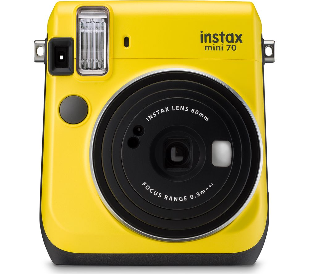 FUJIFILM Instax Mini 70 Instant Camera - 10 Shots Included, Yellow