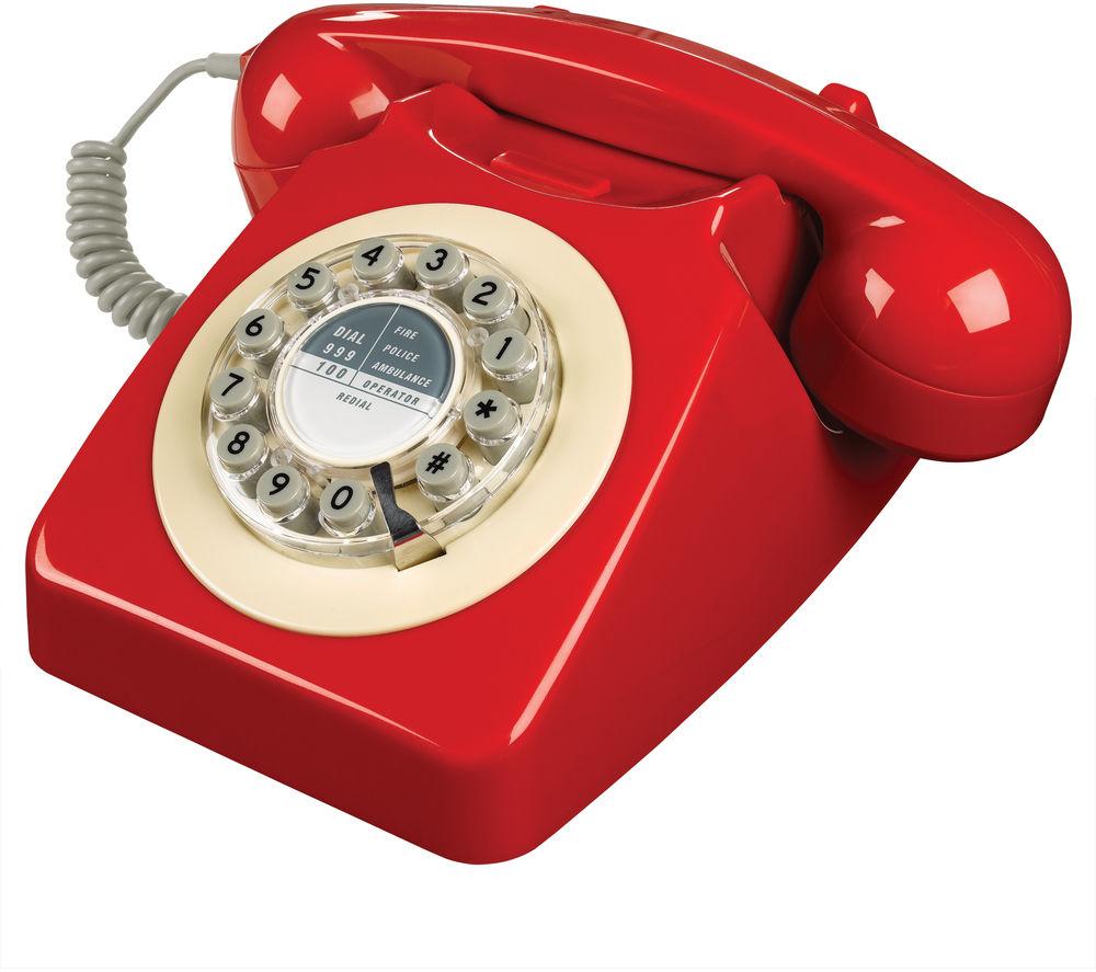 WILD & WOLF 746 Corded Phone - Phone Box Red