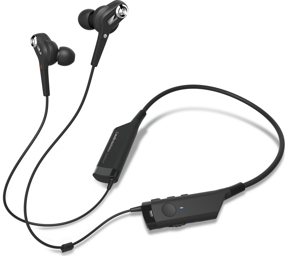 Image of AUDIO TECHNICA ATH-ANC40BT Wireless Bluetooth Noise-Cancelling Headphones - Black, Black