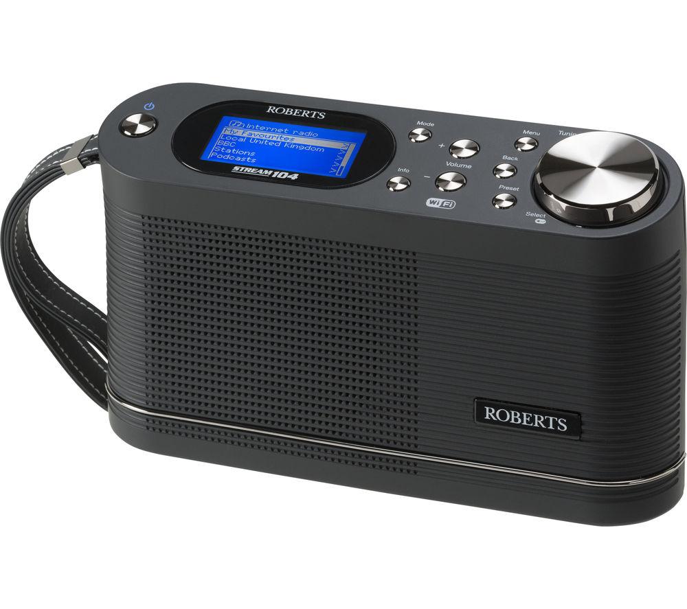 Click to view more of ROBERTS  Stream104 Portable DABﱓ Clock Radio - Black, Black