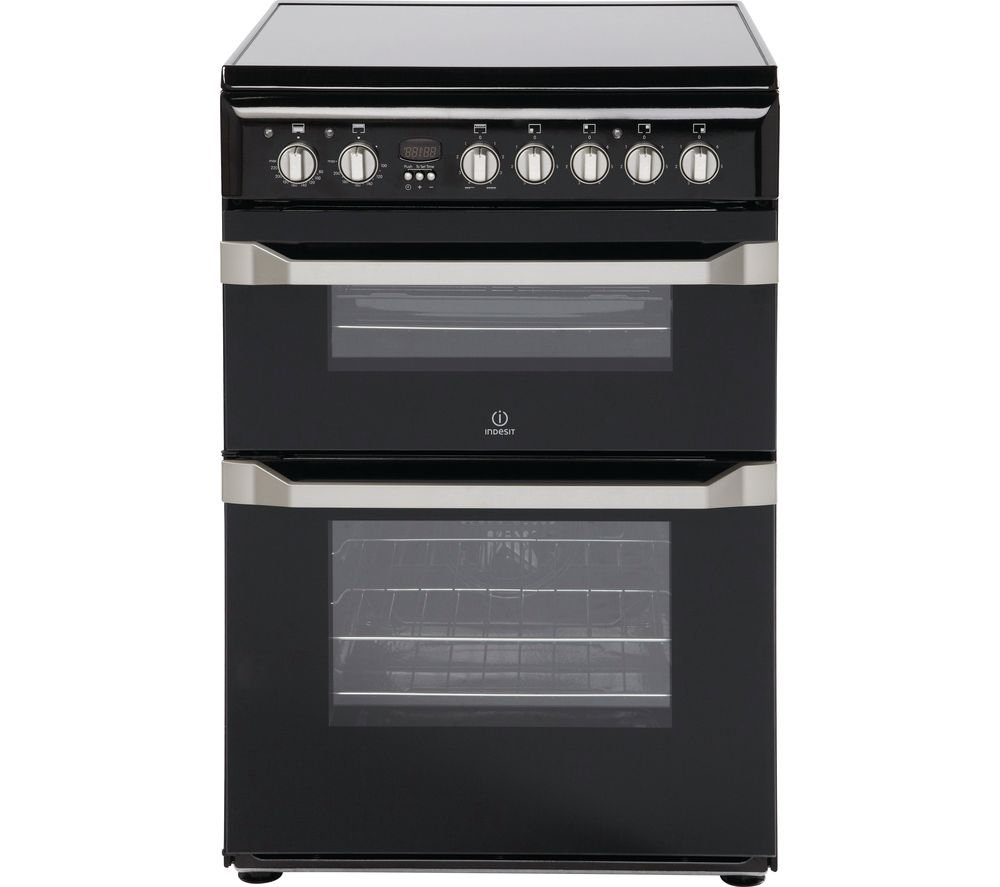 Indesit INDESIT  ID60C2KS 60 cm Electric Ceramic Cooker  Black & Stainless Steel Stainless Steel