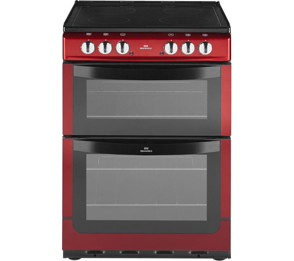 NEW WLD  NW601EDO Electric Cooker  Metallic Red Red