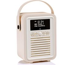 VQ Retro Mini -MINI-CR Portable Bluetooth DAB+/FM Radio - Cream
